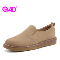 GAD Women Oxford Shoes Spring Autumn Fashion Casual Slip On Women Casual Shoes High Quality Suede