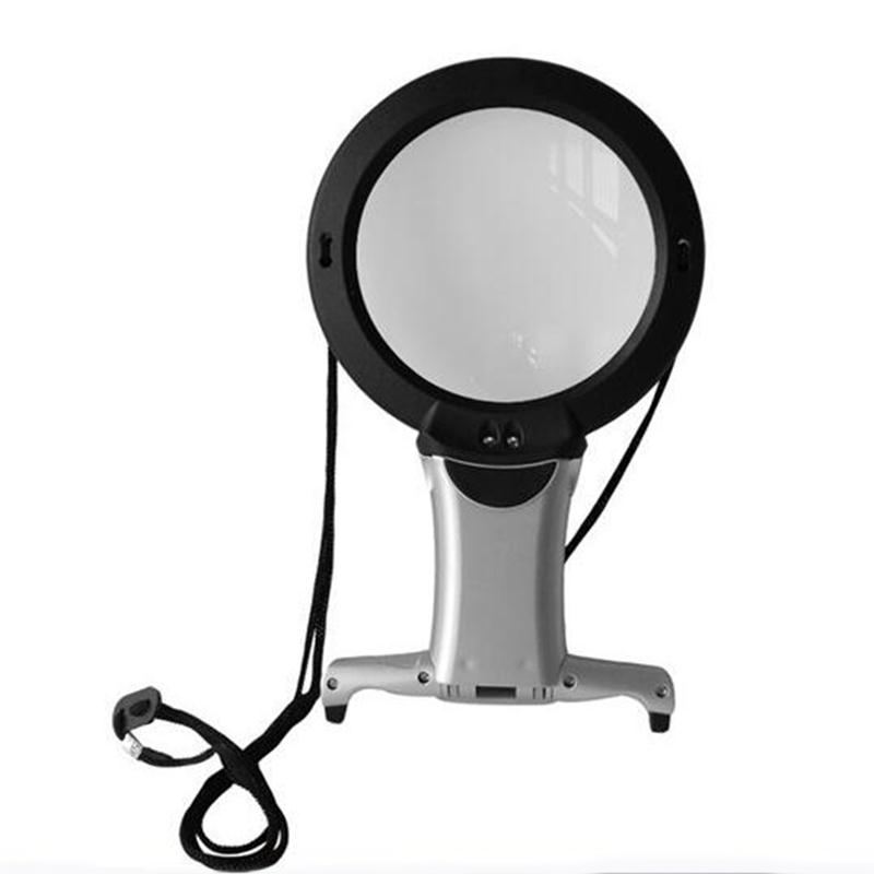 Lamp Magnifier with light Embroidery 2X Hands Free 5X Lens LUPAS for Embroidery Magnifying Glass with LED Loupe for Embroidery