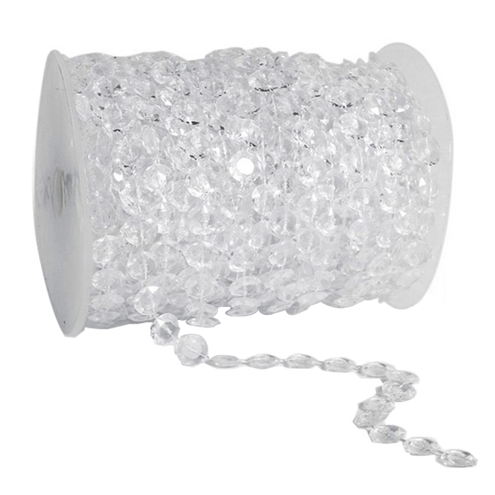 Clear door beads -  Umiwe Clear Colorful Hanging Beads Wedding Decoration Roll Beaded Door Curtain Drape Centerpieces 30m