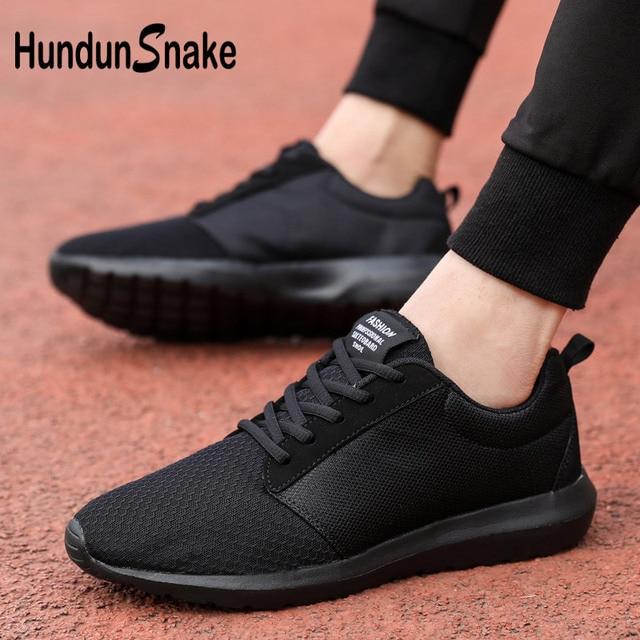 e6a40623ba4a Hundunsnake Summer Men s Sport Shoes Big Size Man Sneakers Mesh Basket  Homme Breathable Athletic Boty Women Fitness Black G-23
