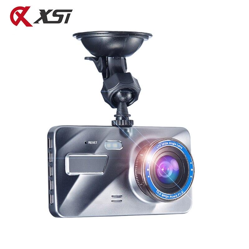 XST Full HD 1080P Car DVR 4 Inch IPS Screen Car Camera Dual Lens Dash Cam