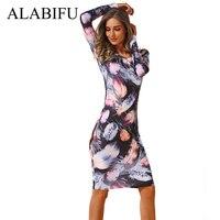 ac9de5fbaad ALABIFU Casual Summer Dress Women 2019 Vintage Floral Pencil Dress Elegant  Slim Office Bodycon Party Dress