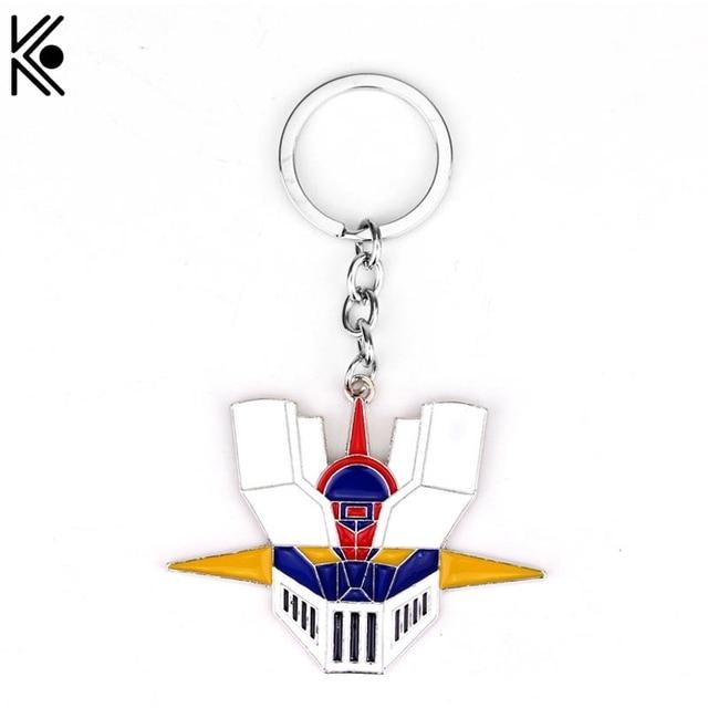 Mazinkaiser Mazinger Shougeki ! Z-Hen Keychain Mazinger Z Head Mask Zinc Alloy Key Chain Ring Men Jewelry Sailor moon