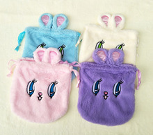 IVYYE 1PCS Big Eye Rabbit Cartoon Drawstring Bags Cute Plush storage handbags makeup bag Coin Bundle Pocket Purse NEW