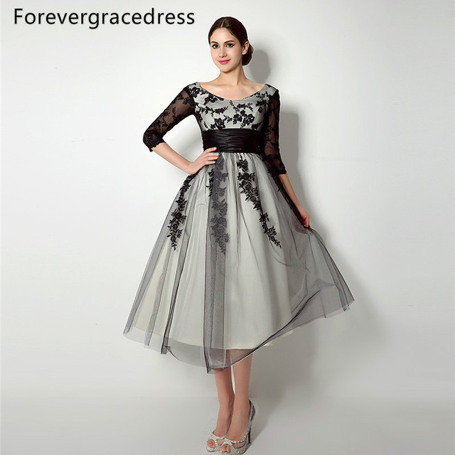 Forevergracedress Vintage Lace Up Back Mother Of The Bride Dress Tea
