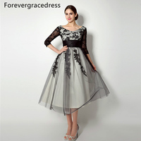 Forevergracedress Vintage Lace Up Back Mother Of The Bride Dress Tea Length Short Wedding Party Dress