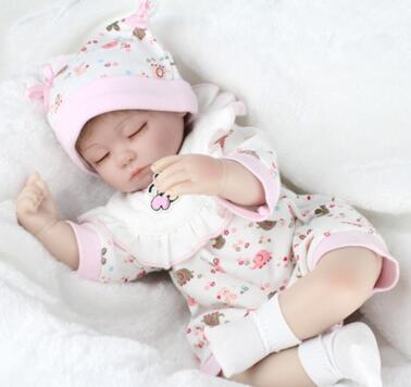 18 silicone bebes reborn de silicone real Toys Lifelike Newborn Princess Baby Doll Bonecas Bebe Reborn Menina Reborn Alive Doll warkings reborn
