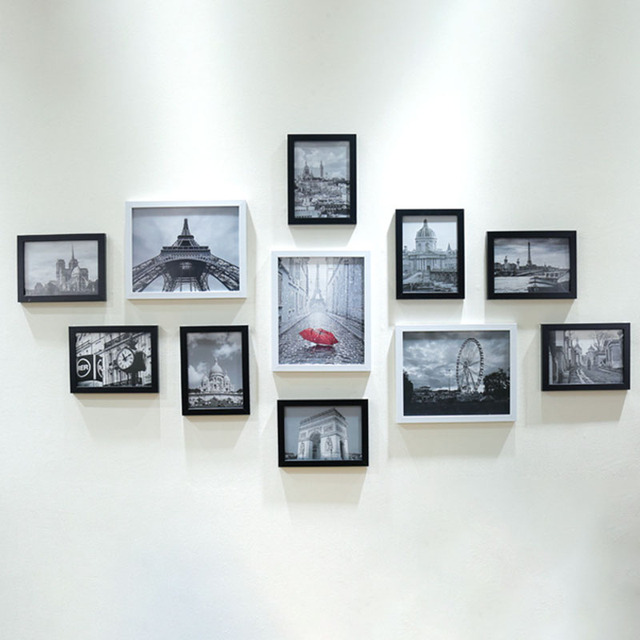 11 teile los holz multi fotorahmen bilderrahmen wand. Black Bedroom Furniture Sets. Home Design Ideas