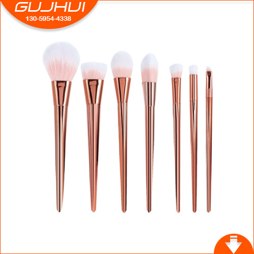 7 Makeup Brush Sets, Beauty Tools Brush Sets, Brush Powder, Rose Eye Shadow Brush, GUJHUI six black eye makeup brush brush eye shadow brush black beauty makeup tools