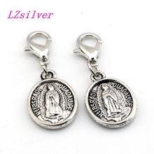 Hot Sales ! 100pcs Antique Silver Alloy ST.JUDE Charms Lobster clasp Pendants 12X 32MM DIY Jewelry A069