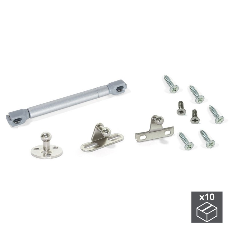 EMUCA 1274625-lot 10 Pistons Furniture For With Folding Doors With Strength 12 Kg And Haul 80mm