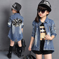 2016 Spring Children's Jacket for Girls Fashion New Design Print Sequin Casual Children's Clothing Outwears Kids Girls Clothes