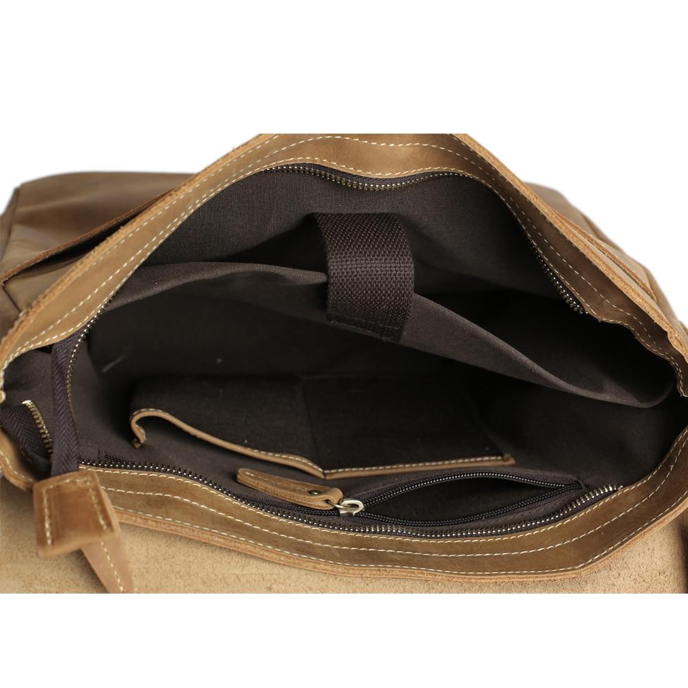 ROCKCOW Laptop supë çanta prej lëkure origjinale, qese crossbody, - Çanta dore - Foto 6