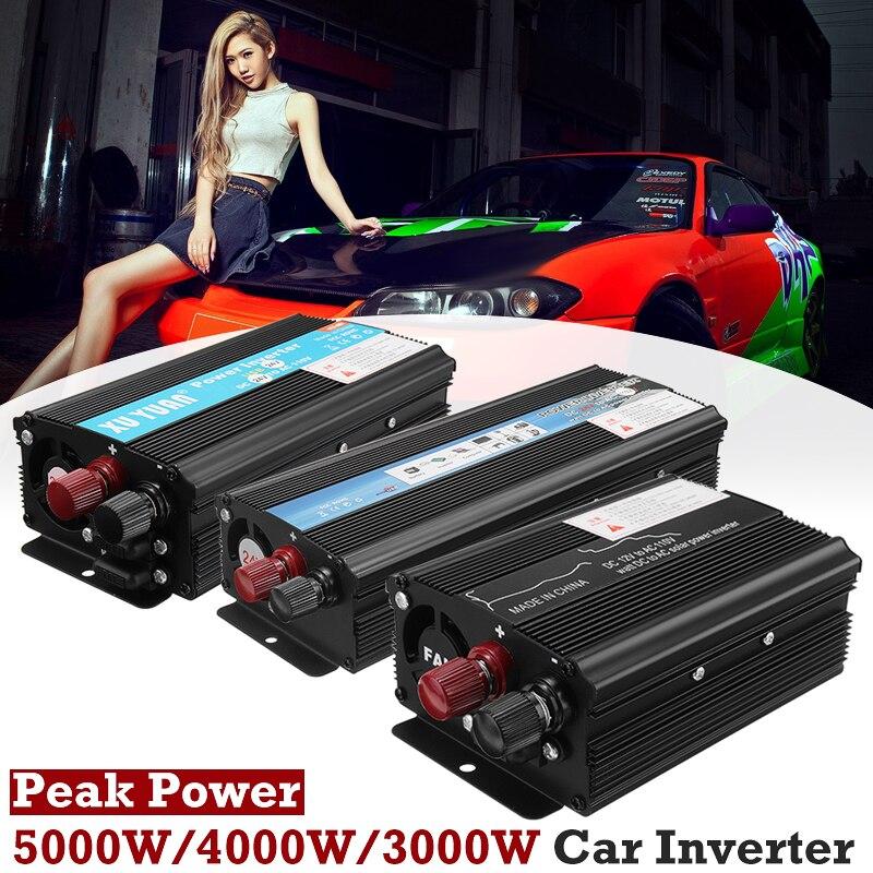 Inverter 12 v 220 v 3000 watt 4000 watt 5000 watt Peak Power Spannung Transformator Konverter DC 12 v Zu AC 220 v Sinus Welle Solar Inverter