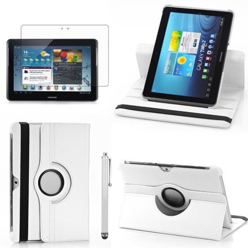 """360 Degree Rotating PU Leather Case for Samsung Galaxy Tab 2 10.1"""" Magnet Auto Wake/sleep Cover GT P5100 P5110 P7500 P7510"""