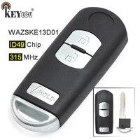 Chip fcc de keyecu fsk 315 mhz id49: wazske13d01 substituição 3 botão inteligente remoto chave fob para mazda CX 5 CX 3 velocidade 3|Chave do carro| |  -