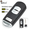 KEYECU FSK 315 МГц ID49 чип FCC: WAZSKE13D01 замена 3 кнопки дистанционный смарт ключ-брелок для Mazda CX-5 CX-3 скорость 3