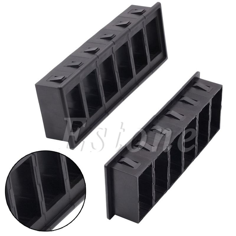 6 Gang Boat Rocker Switch Clip Panel Patrol Holder Housing Black For ARB Carling