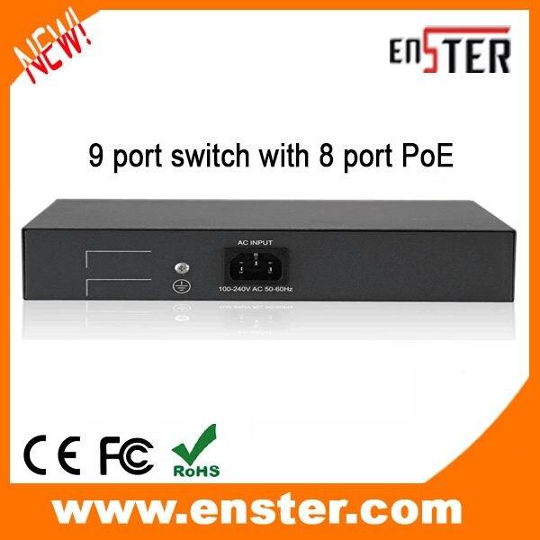 9 port switch with 8 port PoE font b CCTV b font Surveillance camera font b