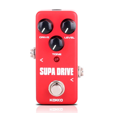 купить KOKKO Mini Supa Drive Electric Guitar Effect Pedal Warm and Clean Overdrive Effect Sound Processor Tube Overload Wholesale FOD5 недорого