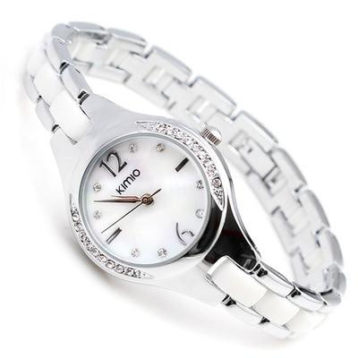 Women brand luxury wristwatch diamond crystal round bracelet watch for ladies si