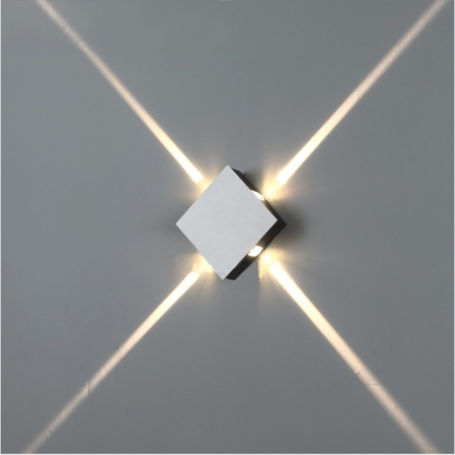 4 Narrow Beam Indoor Wall Effect Light,LED Architectural Facade Lighting 4  Emission LED Wall