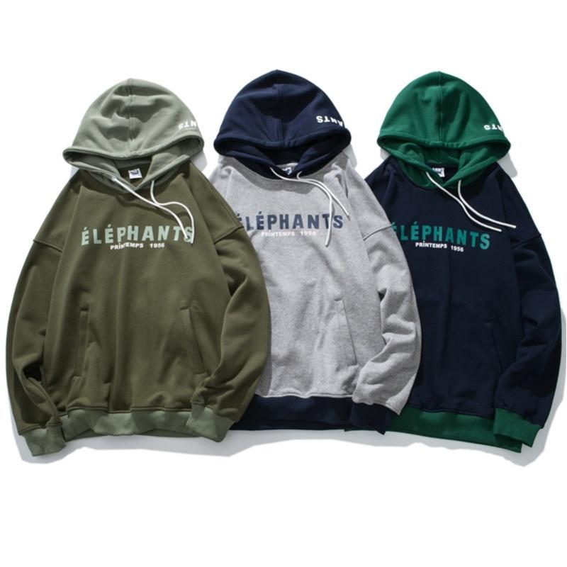 DEKUSI hoodies men 2018 Autumn New Pattern Man Leisure Even Hat Original Design sweatshirt Pullover male Casual tops