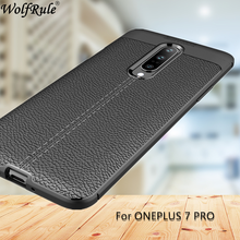 OnePlus 7 Pro Case Fashion Lichee Style Silicone Shockproof Full Cover For One Plus