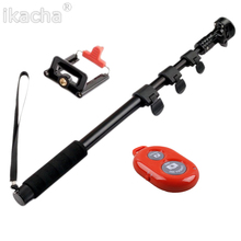 Big sale 3 in 1 Yunteng 188 Portable Handheld Telescopic Monopod Tripod+Bluetooth Remote Shut Release For Cameras Cell Phones With Holder