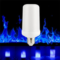 E27 LED Flame Effect Fire Light Bulbs 99LED Creative Lights Blue Flickering Atmosphere Halloween Christmas Decorative Lamp