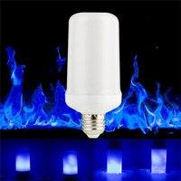 E27 LED Flame Effect Fire Light Bulbs 99LED Creative Lights Blue Flickering Atmosphere Halloween Christmas Decorative Lamp