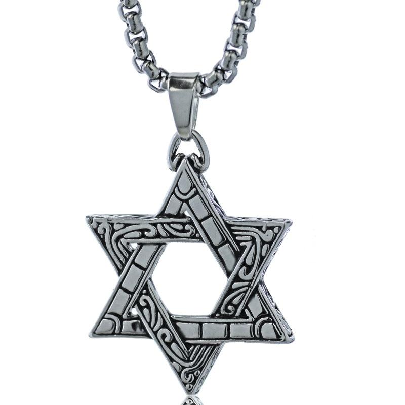 10pcs Jewish Hexagram Star Of David Pendant Biker