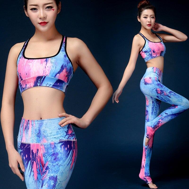 2Pcs font b Women b font Yoga Sets Fitness Bra Pants Tacksuit for font b Women