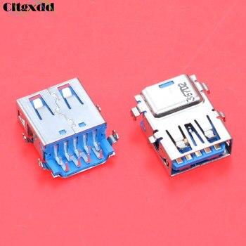 цена на cltgxdd 1pcs USB 3.0 jack connector 9 pin female socket suitable for Lenovo Acer Asus laptop motherboard 3.0 interface USB etc