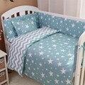 3 pçs/set nordic estilo cotton baby bedding set nuvem árvore dos desenhos animados reativa tingimento padrão handmade do bebê crib bedding set