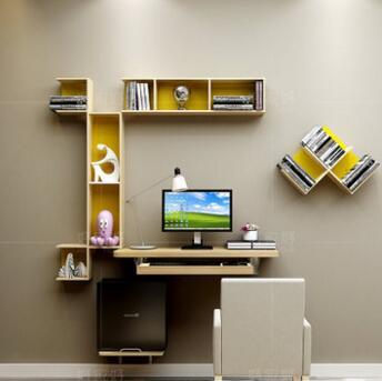Небольшой семейный модель спальня компьютерный стол. Висит простой стол. Повесить на стену, чтобы настольного компьютера, рабочий стол.