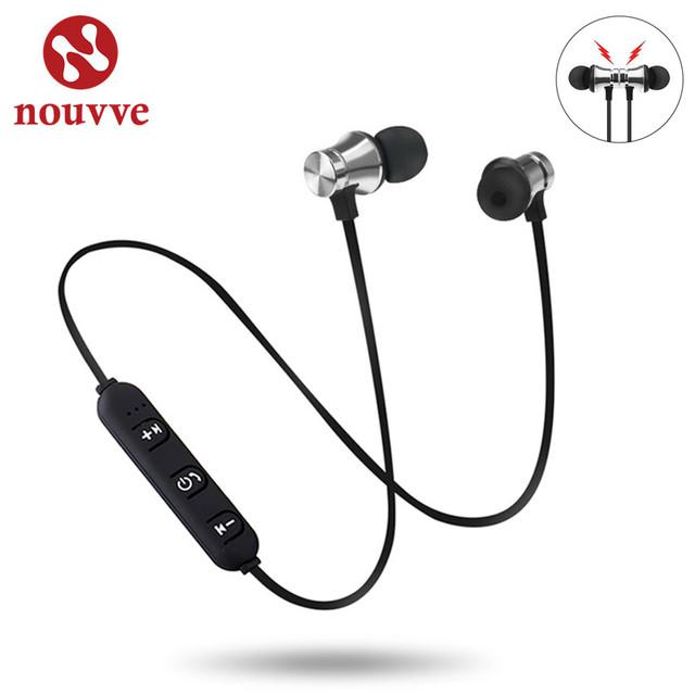 Nouvve XT-11 Wireless Headphone Sport Bluetooth Earphone Super Bass Music Bluetooth Headset with Mic Wireless Earbud For iPhone