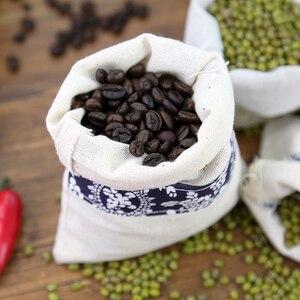 Image 4 - Nowa bawełniana tkanina lniana torba prezentowa samoblokujące torby ręcznie robione torebki fotografia rekwizyty do torebek ziarna ziarna kawy
