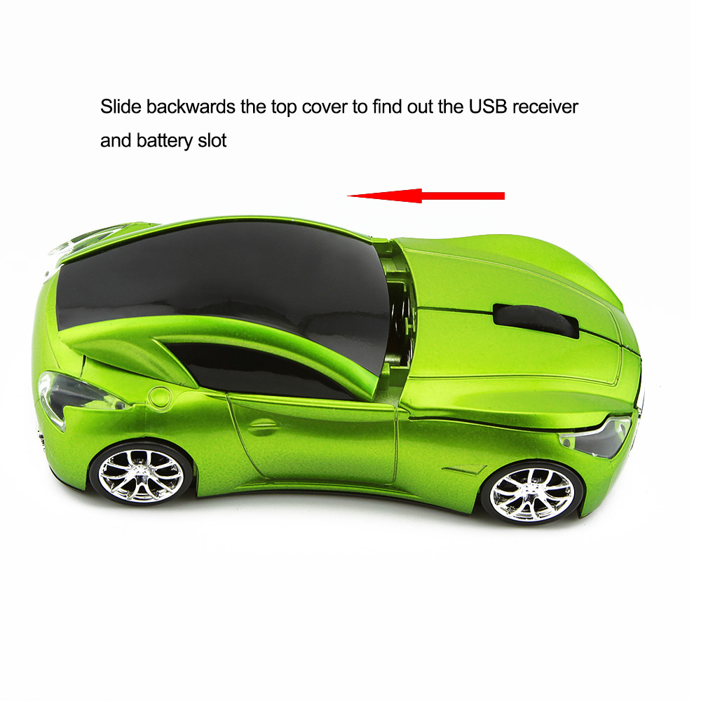 Wireless Hot Sale Sport Car Shaped Mouse Supercar Wireless Mice Led Optical Gaming Computer Mini Mouse For PC Laptop Desktop