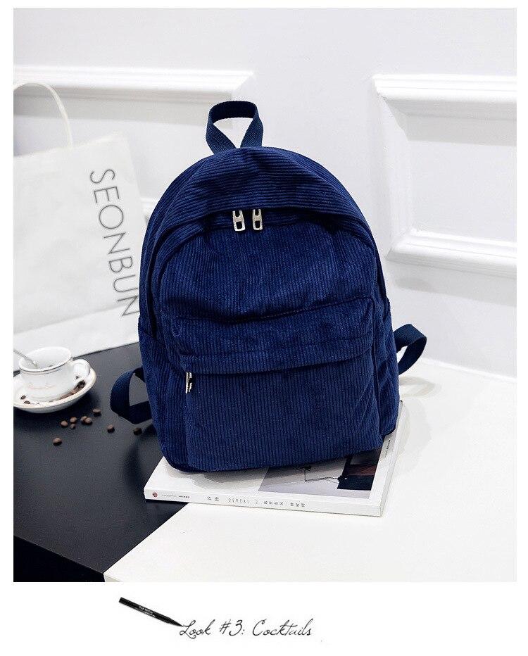 HTB1wp2ed9SD3KVjSZFKq6z10VXaj 2019 New Corduroy Women Backpack Pure Color Women Travel Bag Fashion Double Backpack Female Mochila Bagpack Pack Design