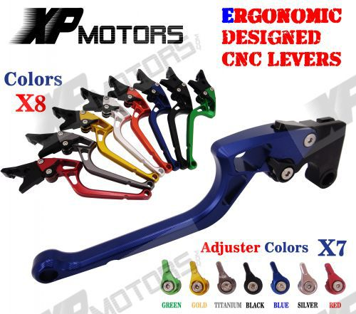 ФОТО Ergonomic Designed CNC Adjustable Right-angled 170mm Brake Clutch Levers For Yamaha XJR1300 2004 05 06 07 08 09 10 11 12 13 2014