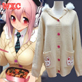 Anime Nitro Super Sonic Rabbit Game Costume Super Sonico the Animation Cosplay Japan Kawaii Sweater WXC