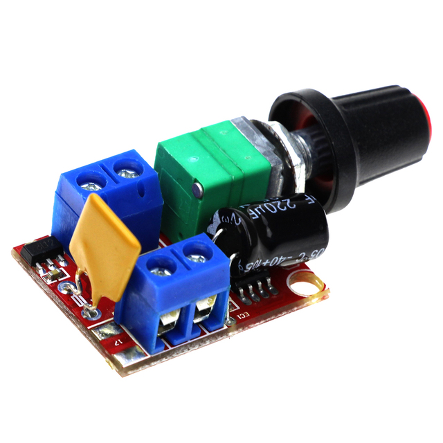 3V-35V Speed Control Switch LED Dimmer Mini DC 5A Motor PWM Speed Controller