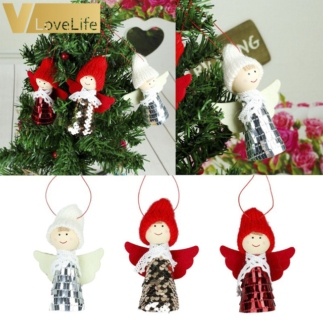 christmas angel sequin doll christmas tree decorations christmas ornaments diy ornament xmas gift new year