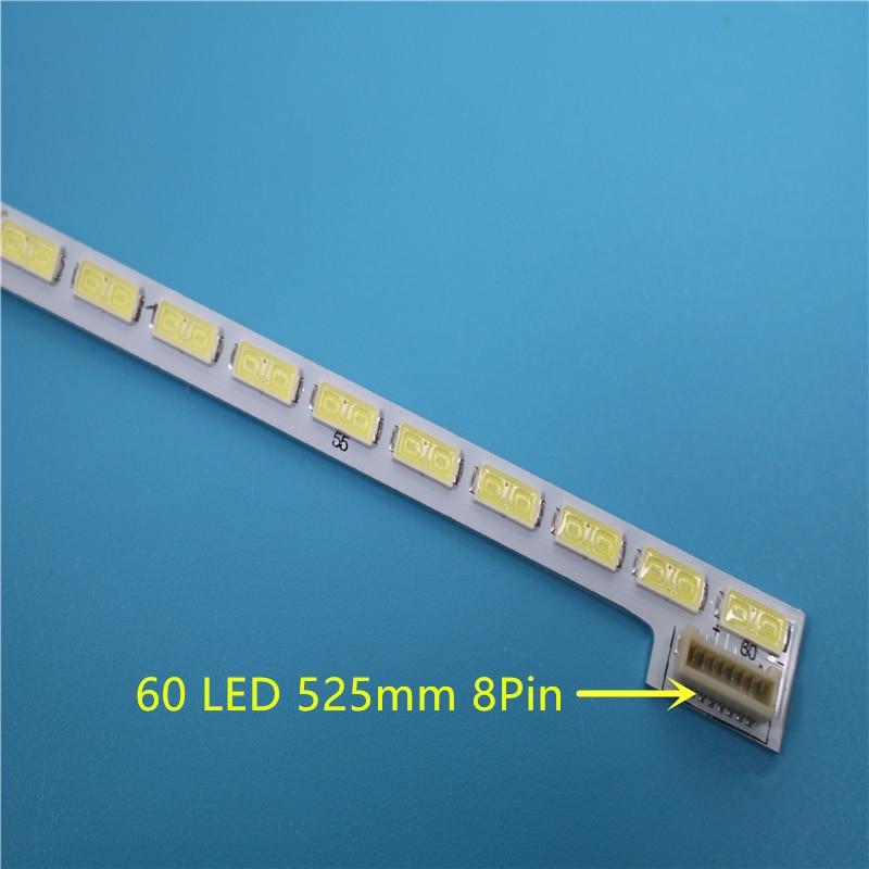 New 50 PCS/lot 60LEDs 525mm LED Backlight Strip Bar For TV LG Innotek 42Inch 7030PKG 60ea Rev0.2 Type