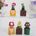 5cm New Super Mario Bros figures Toys Mario Goomba Luigi Koopa Troopa Mushroom Blocks Dolls