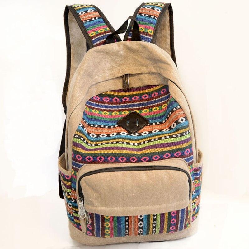 Fashion School Backpacks 2016 Canvas Women Backpacks Patchwork School Bags for Teenage Girls Schoolbag Bolsas Mochilas