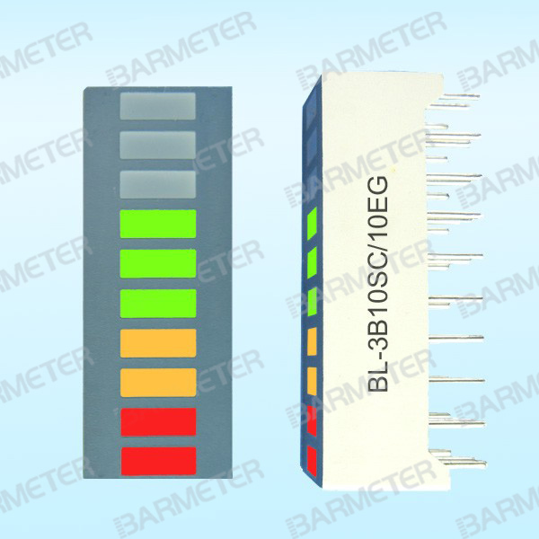 BL-3B10SC/10EG manufacturers direct 10 segment tricolor LED light column display device led bargraph 100 pcs ld 3361ag 3 digit 0 36 green 7 segment led display common cathode