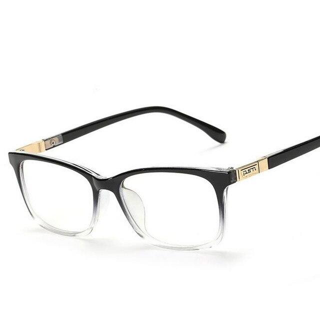 02374601f Moda Kare Gözlük Retro Erkekler 2016 Göz Gözlük Çerçeveleri Optik Kadınlar  Bilgisayar Düz Cam Çerçeve Oculos