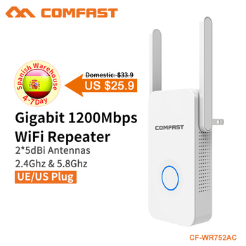 Cheap!! COMFAST 2.4Ghz&5Ghz Dual Band 1200Mbps Wireless Repeater WiFi Extender Repeater Mini Wifi Router Access Point CF-WR752AC
